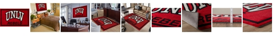 """Luxury Sports Rugs Nevada Colnl Red 3'2"""" x 5'1"""" Area Rug"""