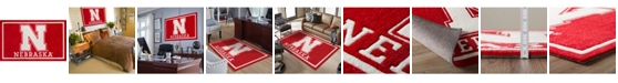 "Luxury Sports Rugs Nebraska Colnb Red 5' x 7'6"" Area Rug"