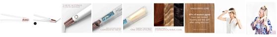 "T3 Singlepass Luxe 1"" Ionic Straightening & Styling Flat Iron (White/Rose Gold)"