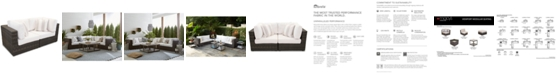 Furniture Viewport Outdoor 2-Pc. Modular Seating Set (2 Corner Units) with Sunbrella® Cushions, Created for Macy's