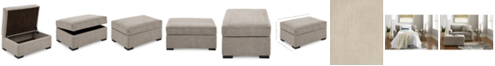 "Furniture Radley 36"" Fabric Chair Bed Storage Ottoman, Created for Macy's"