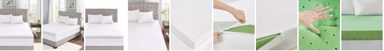 "JLA Home Sleep Philosophy Flexapedic 3"" Gel Memory Foam Twin Mattress Topper with Cooling Cover"