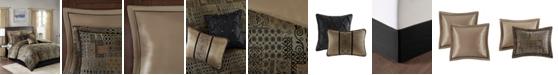 JLA Home Madison Park Danville California King 8 Piece Chenille Jacquard Comforter Set