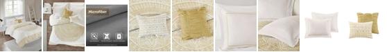 JLA Home Intelligent Design Nomad Full/Queen 5 Piece Metallic Medallion Printed Comforter Set