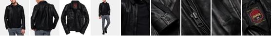 Superdry Men's Curtis Full-Zip Leather Jacket