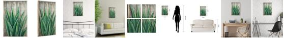 "Empire Art Direct 'Succulent 1' Metallic Handed Painted Rugged Wooden Blocks Wall Sculpture - 24"" x 16"""