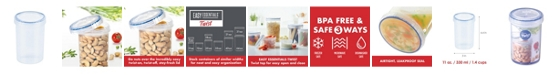 Lock n Lock Easy Essentials Twist 11-Oz. Food Storage Container