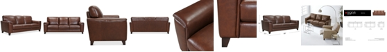 "Furniture Brayna 88"" Leather Sofa, Created for Macy's"
