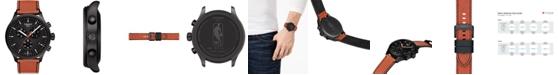 Tissot Men's Swiss T-Sport Chrono XL NBA Orange Textured Leather Strap Watch 45mm - Limited Edition