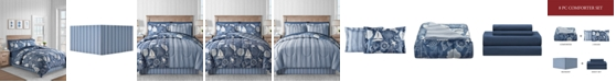 Fairfield Square Collection Seashell 6-Pc. Twin Comforter Set