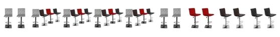 Us Pride Furniture Ilene Adjustable Height Swivel Bar Stool