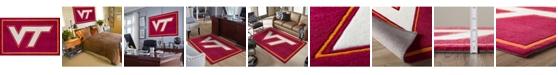 "Luxury Sports Rugs Virginia Tech Colvt Maroon 1'8"" x 2'6"" Area Rug"