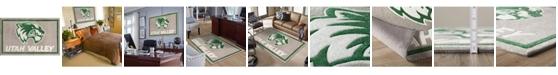 "Luxury Sports Rugs Utah Valley Coluv Gray 5' x 7'6"" Area Rug"