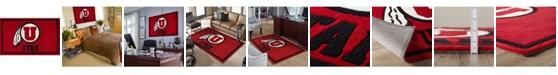 "Luxury Sports Rugs Utah Colut Red 1'8"" x 2'6"" Area Rug"