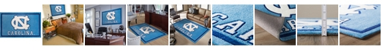 "Luxury Sports Rugs North Carolina Colnc Blue 1'8"" x 2'6"" Area Rug"