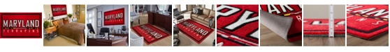 """Luxury Sports Rugs Maryland Colmd Red 1'8"""" x 2'6"""" Area Rug"""