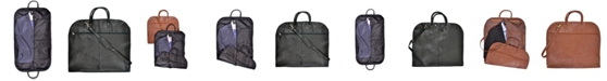 Royce Leather Royce Garment Bag Suitcase in Genuine Leather