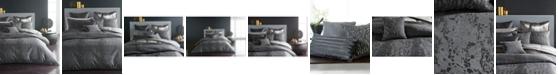 Donna Karan Home Moonscape Reversible Textured Jacquard Charcoal Full/Queen Duvet Cover