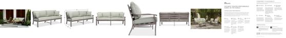 Furniture Tara Aluminum Outdoor Sofa, Created for Macy's