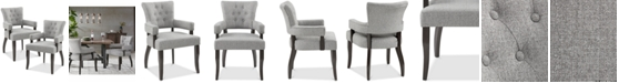 Furniture Penne Dining Arm Chair (Set of 2), Quick Ship
