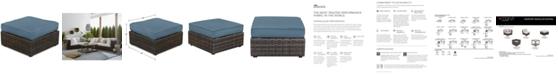 Furniture Viewport Outdoor Ottoman-Custom Sunbrella® Colors, Created for Macy's