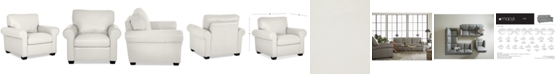 """Furniture Orid 36"""" Leather Armchair, Created for Macy's"""