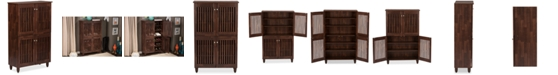 Furniture Pacari Tall Storage Cabinet, Quick Ship