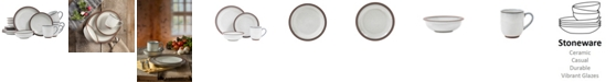 Sango Eterra White 16-Piece Dinnerware Set