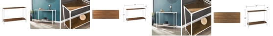 Southern Enterprises Westmoor Industrial Rectangular Console Table with Storage Shelf