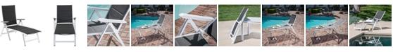 """Hanover Regis Padded Sling Chaise - 41.1"""" x 27.5"""" x 18.9"""""""