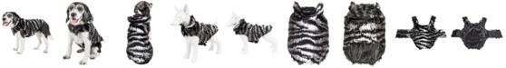 Pet Life Central Pet Life Luxe 'Chauffurry' Beautiful Zebra Patterned Faux Fur Dog Coat Jacket