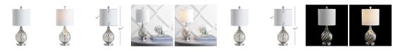 """JONATHAN Y Lawrence 20.5"""" Glass/Metal LED Table Lamp"""