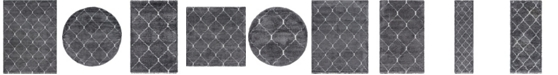 Bridgeport Home Fazil Shag Faz5 Gray Area Rug Collection