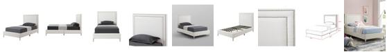 INSPIRED HOME Monroe Upholstered Twin Platform Bedframe