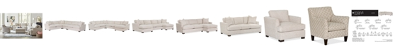 Furniture Juliam Fabric Sectional Sofa Collection, Created for Macy's
