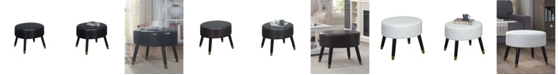 Convenience Concepts Designs4Comfort Mid Century Ottoman Stool