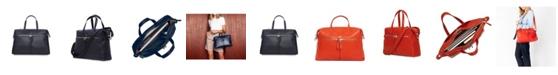 Knomo London Audley Genuine Leather Laptop Handbag