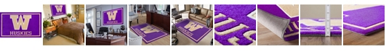 "Luxury Sports Rugs Washington Colwa Purple 3'2"" x 5'1"" Area Rug"