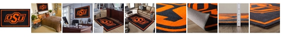 "Luxury Sports Rugs Oklahoma State Colos Black 3'2"" x 5'1"" Area Rug"