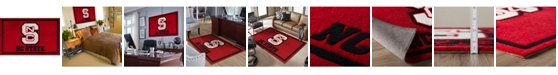 """Luxury Sports Rugs North Carolina State Colns Red 3'2"""" x 5'1"""" Area Rug"""