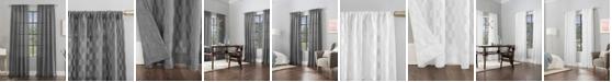 "Scott Living Verge 52"" x 84"" Geometric Clipped Jacquard Curtain Panel"
