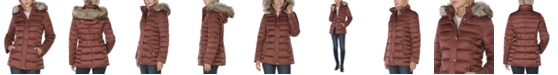 INC International Concepts INC Faux-Fur Trim Hooded Puffer Coat, Created for Macy's