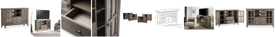 Simpli Home  Bellevue Tall TV Stand, Quick Ship