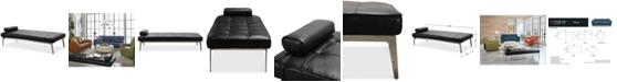Furniture Myia Leather Daybed, Created for Macy's