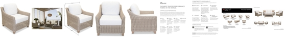 Furniture Willough Outdoor Club Chair, with Sunbrella® Cushions, Created for Macy's