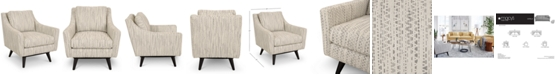 """Furniture Cistella 31"""" Fabric Accent Swivel Chair, Created for Macy's"""