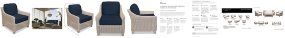 Furniture Willough Wicker Outdoor Club Chair: with Custom Sunbrella® Colors, Created for Macy's