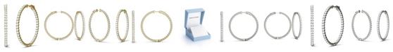Charles & Colvard Moissanite Hoop Earrings (5/8 ct. t.w. Diamond Equivalent) in 14k Gold or White Gold