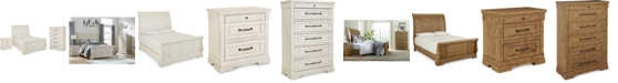 Furniture Trisha Yearwood Homecoming Sleigh Bedroom Collection 3-Pc. Set (Queen Bed, Nightstand & Chest)