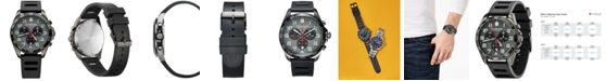 Victorinox Swiss Army Men's Chronograph Fieldforce Sport Black Rubber Strap Watch 42mm